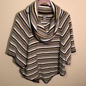 Striped Poncho Shirt- New Directions, XL